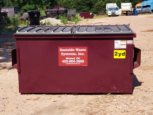 Eastside's 2 yard steel dumpster