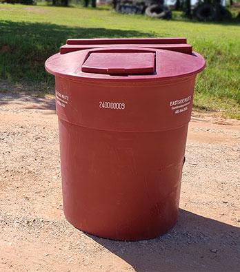 Eastside Waste 240 Gallon Plastic Garbage Tub