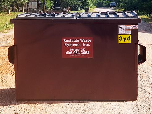 Eastside's 3 yard steel dumpster