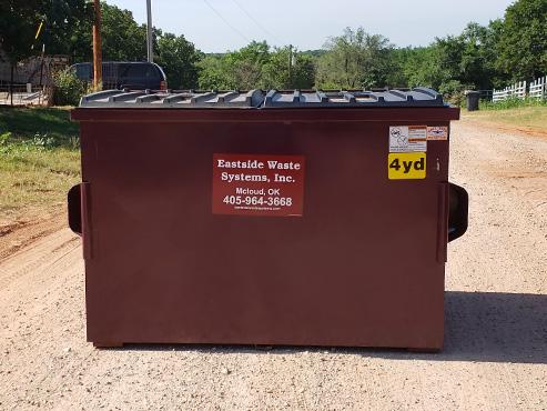 Eastside's 4 yard steel dumpster