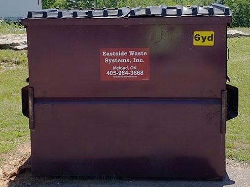 Eastside's 6 yard steel dumpster