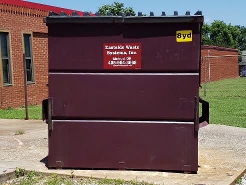 Eastside's 8 yard steel dumpster