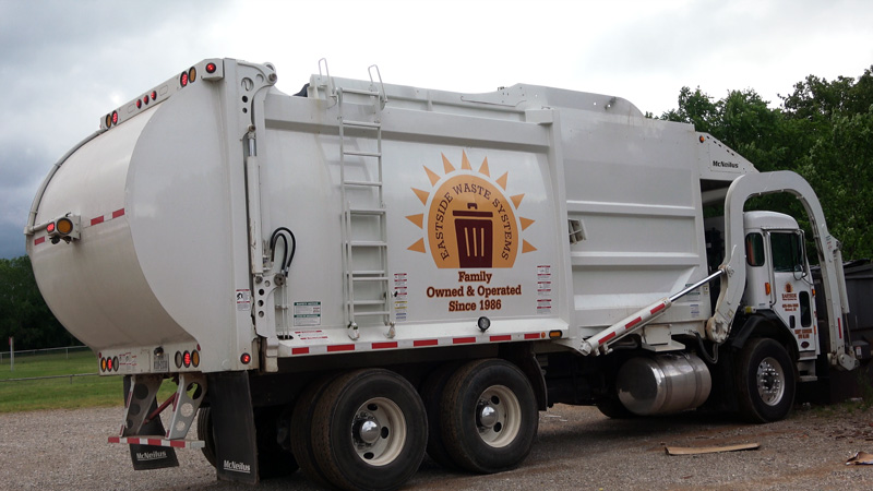 Eastside residential front loader garbage truck