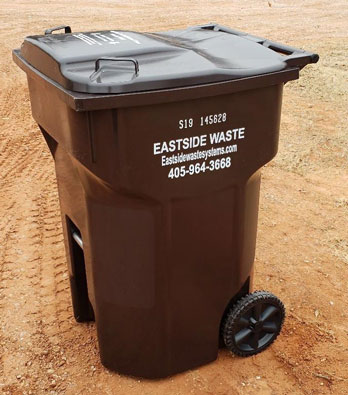 Eastside 95g residential poly cart garbage can
