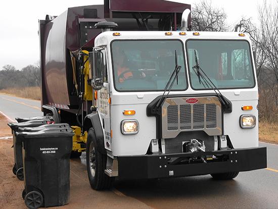 Eastside residential side loader garbage truck