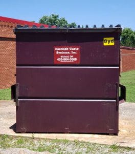 Eastside's 8 yard steel dumpster